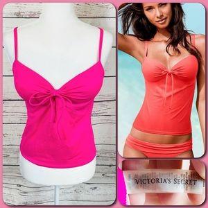 Victoria's Secret Bright Pink Tankini Swim Top 34B